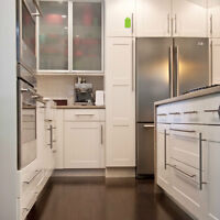 Kitchen cabinet handles , Both styles , square designs , rounded
