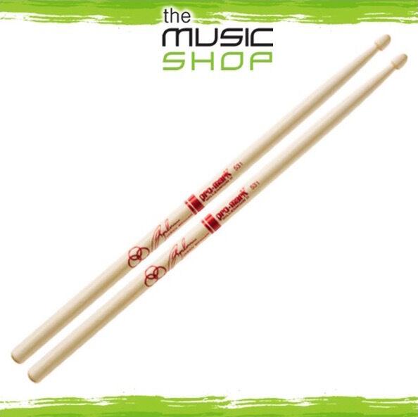 3x Pairs of Promark SD531 Jason Bonham Maple Drumsticks with Acorn Wood Tips