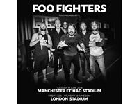 Standing Pitch tickets for Foo Fighters 22nd June