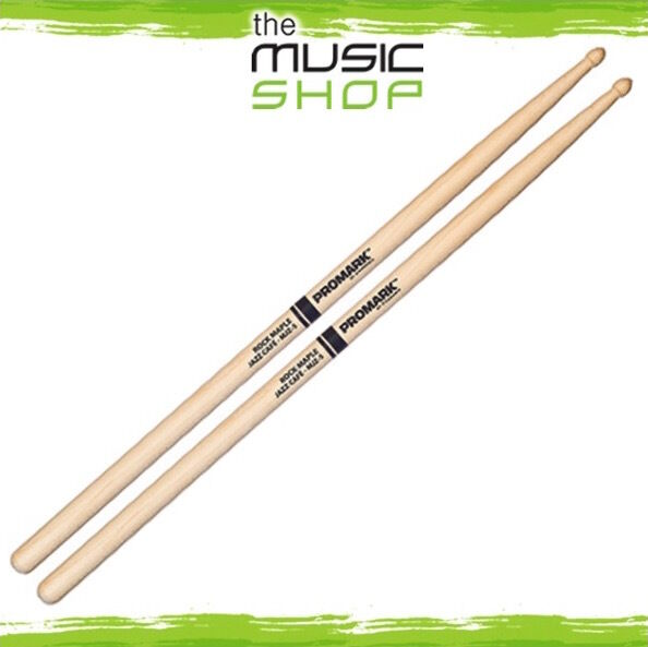 "Set of Promark MJZ5 'Jazz Cafe' .531"" Maple Drumsticks with Acorn Wood Tips"