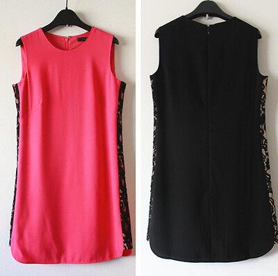 BCBG Maxazria Onyx Lace Side Panel Dress, Fushia, Black, MRSP $338, Final Sale!  Side Panel Dress