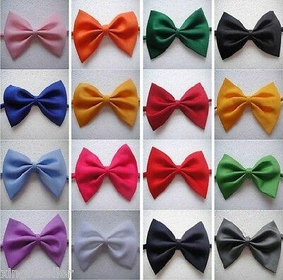 Lot 20 Pcs Mens Tuxedo Bowtie 20 Solid Colors Neckwear Adjustable Bow Tie Black.