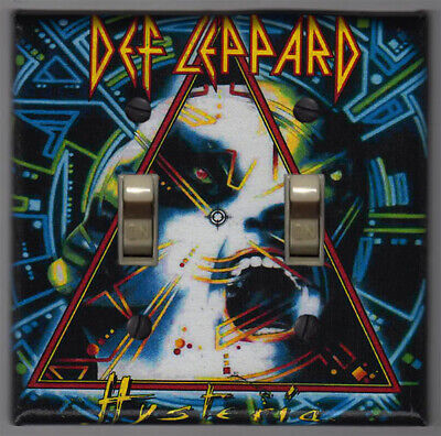 Decor Double Switchplate Cover (Def Leppard Hysteria Double Light Switch Cover Plate - Home)
