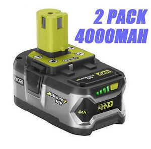 2 pack ryobi p108 18v volt 4ah cordless drill tool one li. Black Bedroom Furniture Sets. Home Design Ideas