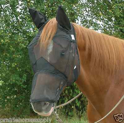 CASHEL QUIET RIDE FLY MASK STANDARD HORSE with COVERS EARS and NOSE Trail Riding