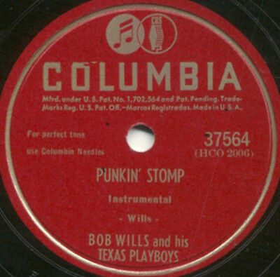 78 RECORD BOB WILLS TEXAS PLAYBOY PUNKIN' STOMP HOW CAN IT BE WRONG COWBOY SWING - Playboy Pumpkin