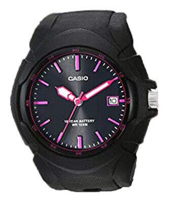 Casio Women's Quartz 100m Black Stainless Steel/Resin Watch LX610-1A2
