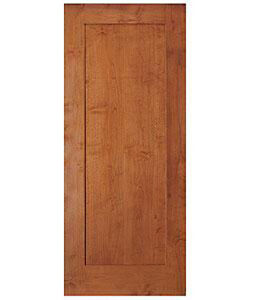 1 Panel Red Oak Flat Mission Shaker Stain Grade Solid Core