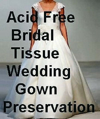 Wedding Gown Sachet - 50 ACID FREE UNBUFFERED White BRIDAL Tissue Paper 20x30 + FREE SACHET