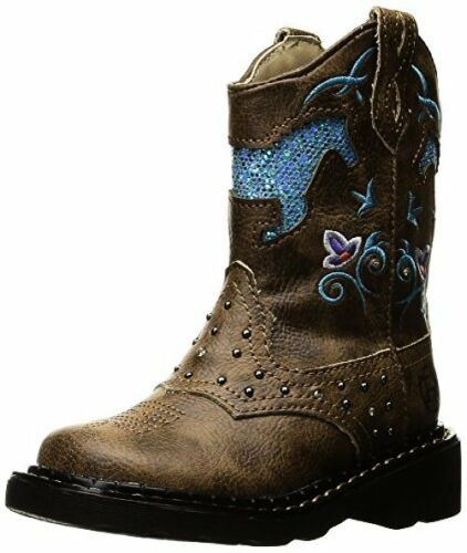 Roper Western Boots Girls Horse 09-018-1202-0032 TA