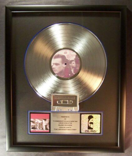 U2 The Unforgettable Fire LP Cassette Platinum Non RIAA Record Award Island