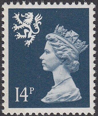 GB Stamps 1989 Scotland Machin Definitive 14p Deep Blue, 1 Left Bd, MNH, S/G S55