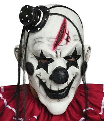 Black and White Horror Clown Adult Mask with
