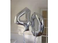 40 helium foil balloons £10 for both