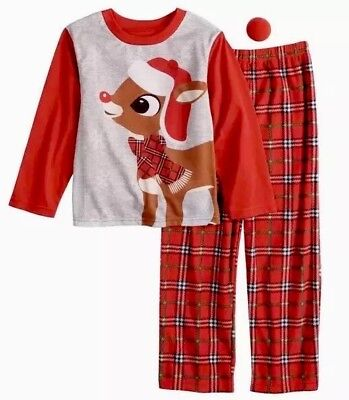 Jammies Boys Rudolph the Red Nosed Reindeer Christmas 2 Pc Pajama Set Size 8 $36](Boys Christmas Jammies)