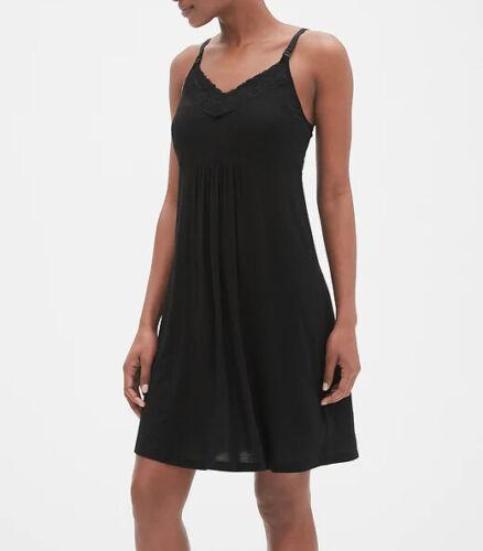 GAP Maternity Nursing Nightgown BLACK - #42217-6