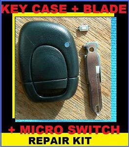 For Renault Clio 1 Button Remote key FOB Full Repair kit battery & switch 01-04