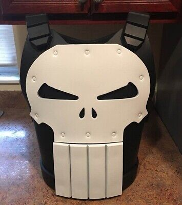 The Punisher vest chest armor costume cosplay Frank Castle Marvel comics Jim - Punisher Costume Vest