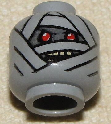 LEGO NEW MINIFIGURE HEAD DUAL SIDED MUMMY MONSTER HALLOWEEN MINIFIG FACE