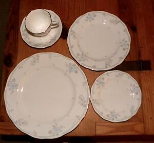 22 perfect pieces of Royal Albert Satin Rose china