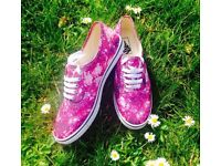 Pink Galaxy Vans, size 6 women's shoes