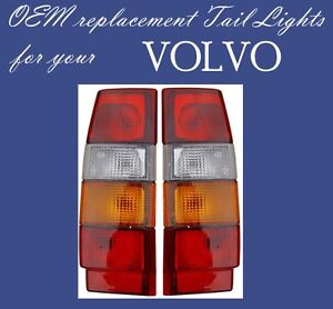 VOLVO WAGON 740 760 940 960 TAIL LIGHT PAIR 1985-1994 3518908 3518909