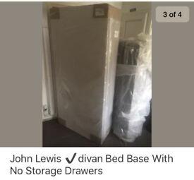 John Lewis ✔️divan bed base no storage drawers