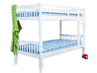 """Bunk Beds 3""""0 Singles with mattresses PINE WOOD"""