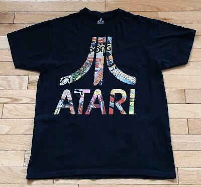 Atari Classic Logo Multi-Color Vintage Games Ripple Junction Black T-Shirt Sz M