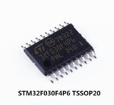 10pcs Stm32f030f4p6 Microcontroller Stm32 32-bit Mcu Manu Stm Tssop20 New