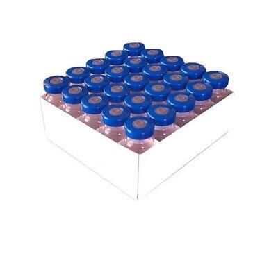 5ml Sterile Empty Clear Vials 25pk Blue