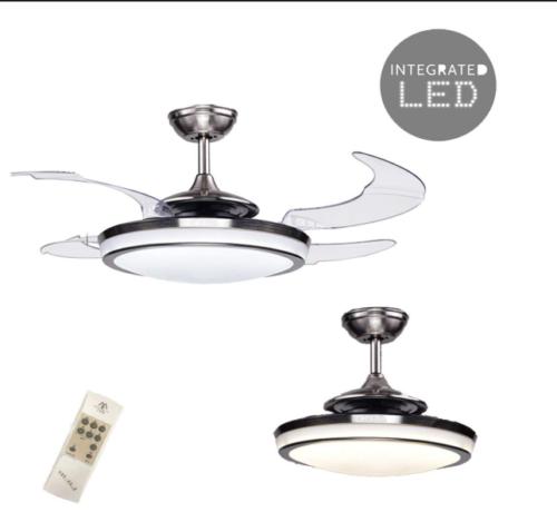 48 retractable 4 blades led ceiling fan