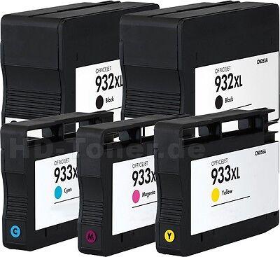 5x DRUCKER PATRONEN für HP 932XL+933XL OFFICEJET 6100 6600 6700 7110 7510A 7610