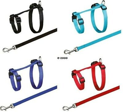 Trixie Cat Harness with Leash XL, Nylon 34-57 cm/13 mm, 1,20 M, Various Colors