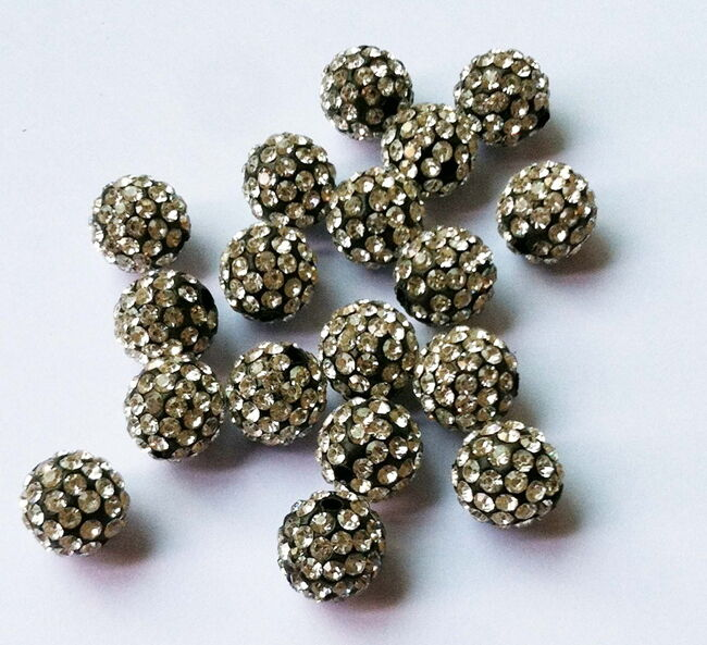 100pcs Wholesale 10MM pave disco crystal 29 colors shamballa beads #92