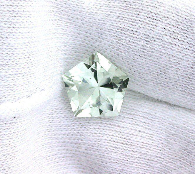 11.5mm Natural Blue Green Quartz Custom Facet Cut Pentagon Gem Gemstone EBS2035