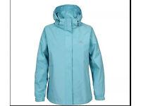 "Trespass Minette Waterproof Women Jacket ""large"" Aqua"
