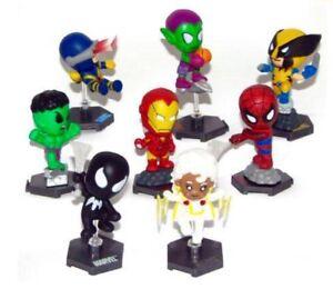 marvel grab zags marvel minis complete pvc set of 8