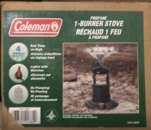 Coleman 1-Burner Stove : Camping gear essential, with cylinder
