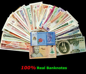 (1Notes) Large MIX - World Foreign Paper Money Currency - .-Bill Lot¡FROM BUNDLE