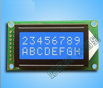 1pcs Blue 0802 Lcd 8x2 Character Lcd Display Module 5v Lcm For Arduino Raspberry