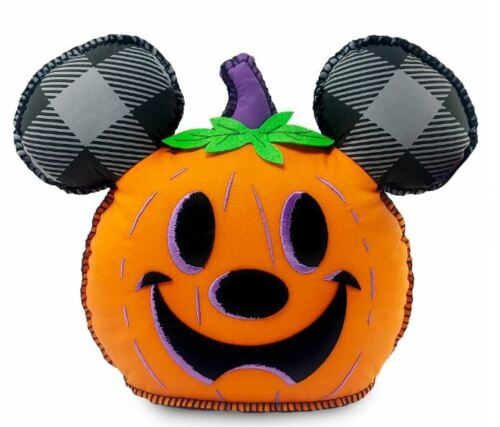 2021 Disney Parks Halloween Hey Pumpkin Mickey Jack-o-Latern Throw Pillow NEW