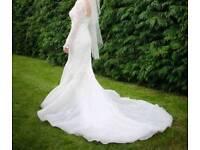 Beautiful fishtail wedding dress