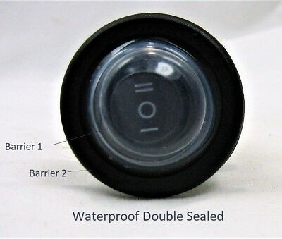 Spdt Center Off Double Sealed Highly Waterproof Rocker Toggle Switch 12v Round