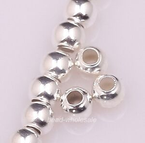 Wholesale 200pcs Silver Plated Round Ball Findings Spacer Beads Jewelery 3mm