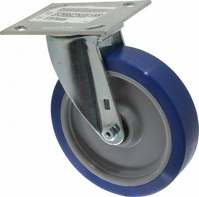 E.r. Wagner 6 Inch Diameter X 1-12 Inch Wide Swivel Caster With Top Plate M...