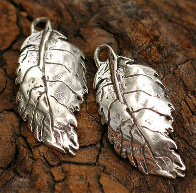 ONE Artisan Handcrafted Rose Leaf Charm in Sterling Silver