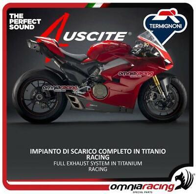 Termignoni D182 full titanium exhaust system racing 4USCITE Ducati Panigale V4