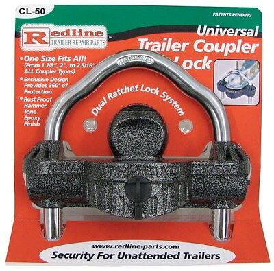 """Universal Heavy Duty Trailer Coupler Lock - Fits 1-7/8, 2 and 2-5/16"""" Couplers"""