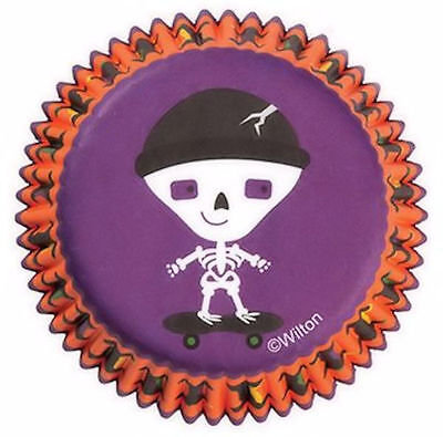 Spooky Halloween Baking (Skeleton Spooky Pop Halloween Baking Cups 75ct from Wilton #0442 -)